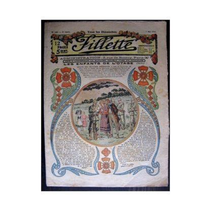 FILLETTE 1916 N°426 LES ENFANTS DE L'OTAGE (Poupée Friquette - Pochette brodée)