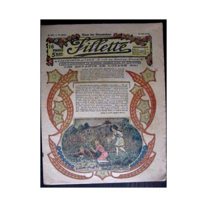 FILLETTE 1916 N°427 LES ENFANTS DE L'OTAGE (Mode Fillette - Modèles de robes 1916)