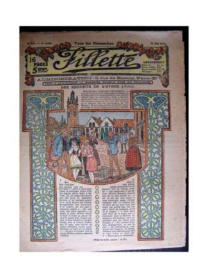 FILLETTE 1916 N°429 LES ENFANTS DE L'OTAGE (Poupée Friquette - Corsage de communiante)