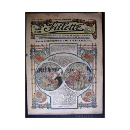 FILLETTE 1916 N°430 LES ENFANTS DE L'OTAGE