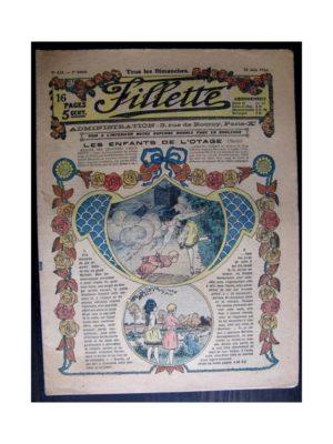FILLETTE (SPE) 1916 N°433 LES ENFANTS DE L'OTAGE (Mode Fillette – Modèles de robes 1916)