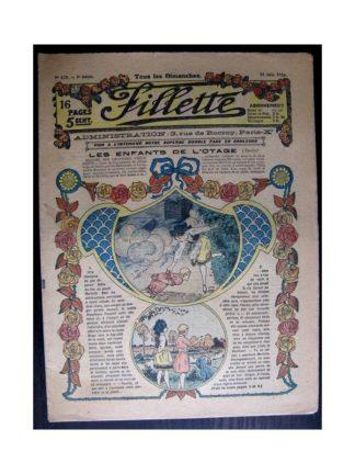 FILLETTE 1916 N°433 LES ENFANTS DE L'OTAGE (Mode Fillette - Modèles de robes 1916)