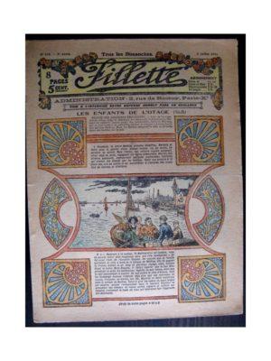 FILLETTE 1916 N°434 LES ENFANTS DE L'OTAGE
