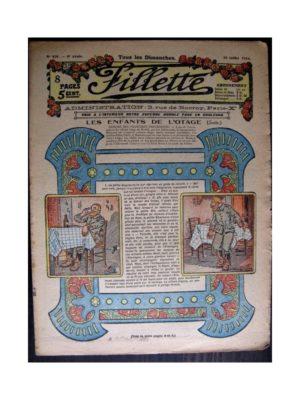 FILLETTE 1916 N°438 LES ENFANTS DE L'OTAGE