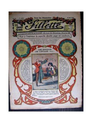 FILLETTE (SPE) 1916 N°439 LES ENFANTS DE L'OTAGE (Poupée Friquette – Costume de bain)