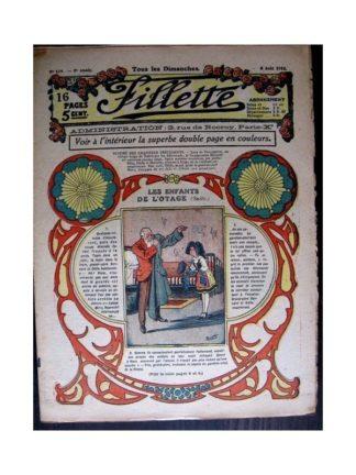 FILLETTE 1916 N°439 LES ENFANTS DE L'OTAGE (Poupée Friquette - Costume de bain)