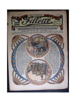 FILLETTE 1916 N°440 LES ENFANTS DE L'OTAGE