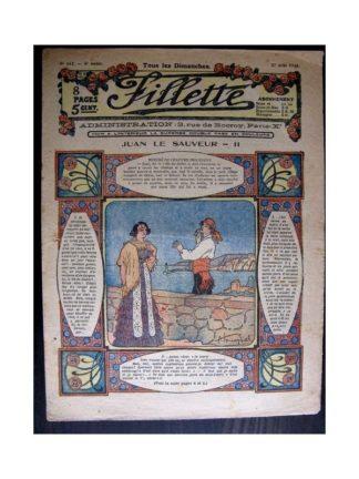 FILLETTE 1916 N°442 JUAN LE SAUVEUR