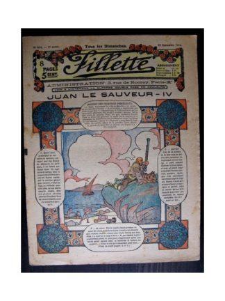 FILLETTE 1916 N°444 JUAN LE SAUVEUR - IV