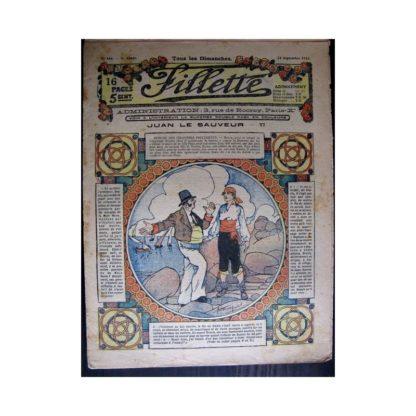 FILLETTE 1916 N°446 JUAN LE SAUVEUR - VI (Mode Fillette - Modèles de robes 1916)