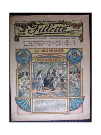 FILLETTE 1916 N°455 LA VENGEANCE DU MANDARIN
