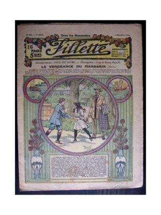 FILLETTE 1916 N°456 LA VENGEANCE DU MANDARIN