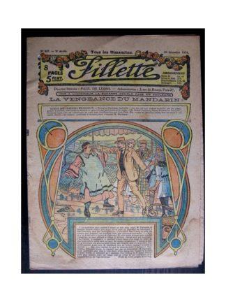 FILLETTE 1916 N°457 LA VENGEANCE DU MANDARIN