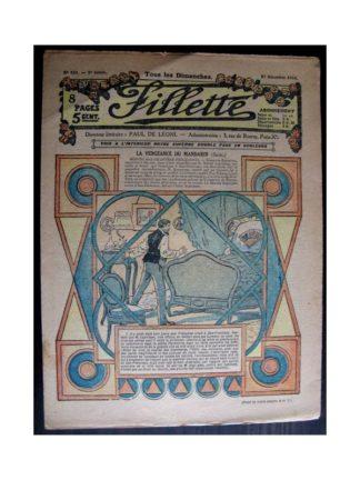 FILLETTE 1916 N°458 LA VENGEANCE DU MANDARIN