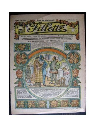 FILLETTE 1916 N°459 LA VENGEANCE DU MANDARIN