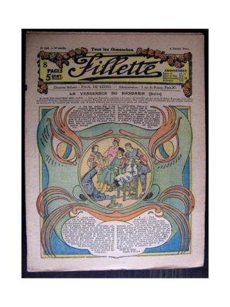 FILLETTE 1917 N°465 LA VENGEANCE DU MANDARIN