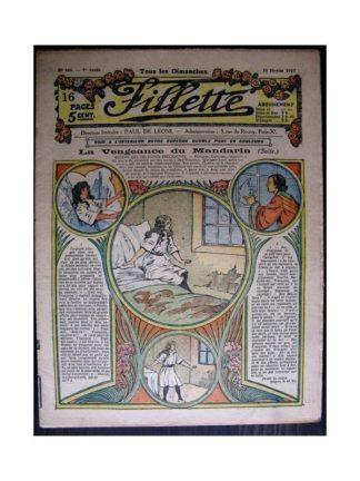 FILLETTE 1917 N°466 LA VENGEANCE DU MANDARIN (Modèles de robes 1917)