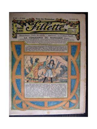 FILLETTE 1917 N°467 LA VENGEANCE DU MANDARIN