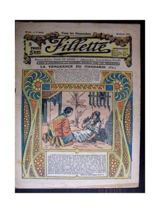 FILLETTE 1917 N°468 LA VENGEANCE DU MANDARIN