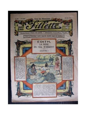 FILLETTE 1917 N°483 EDITH LA ROSE DU VAL D'ARGENT (1)