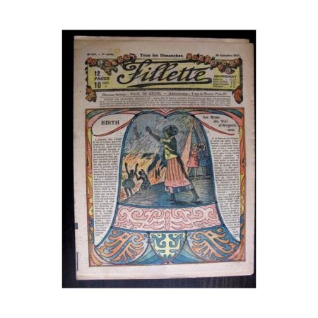 FILLETTE 1917 N°499 EDITH LA ROSE DU VAL D'ARGENT (17)