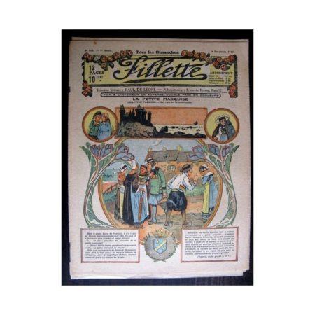 FILLETTE 1917 N°504 LA PETITE MARQUISE (1) LE VOEU DE LA MORIBONDE