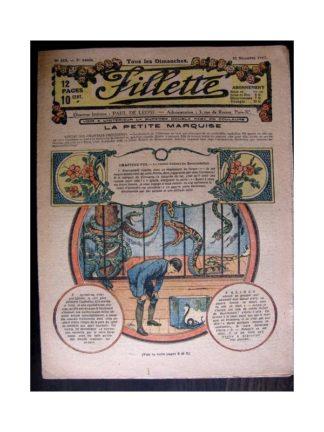 FILLETTE 1917 N°511 LA PETITE MARQUISE (8) LE COMTE ROBERT DE BOURNEMONT