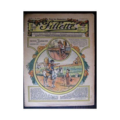 FILLETTE 1918 N°516 LA PETITE MARQUISE (13) RENCONTRE