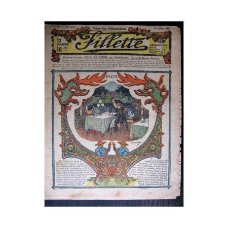FILLETTE 1918 N°541 GINETTE (22)