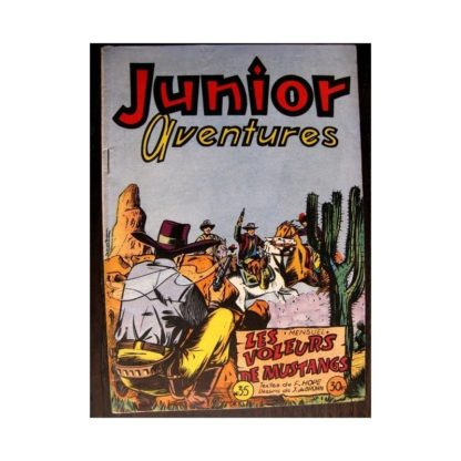 JUNIOR AVENTURES N°35 LES VOLEURS DE MUSTANGS (Editions des Remparts 1953)