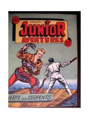 JUNIOR AVENTURES N°65 ALERTE AUX SERPENTS (Editions des Remparts 1956)