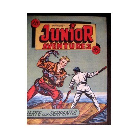 JUNIOR AVENTURES N°65 ALERTE AUX SERPENTS (Editions des Remparts 1956)