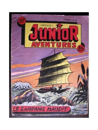 JUNIOR AVENTURES N°69 LE SAMPANG MAUDIT (Editions des Remparts 1956)