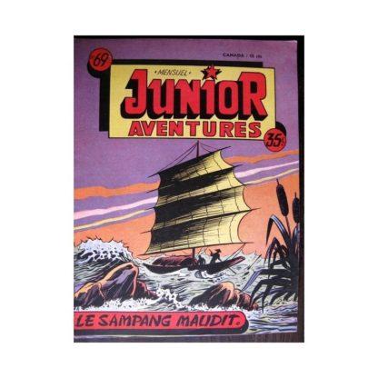 JUNIOR AVENTURES N°69 LE SAMPANG MAUDIT (Editions des Remparts 1956)