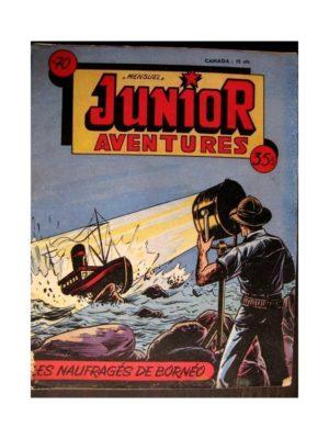 JUNIOR AVENTURES N°70 LES NAUFRAGÉS DE BORNEO (Editions des Remparts 1956)