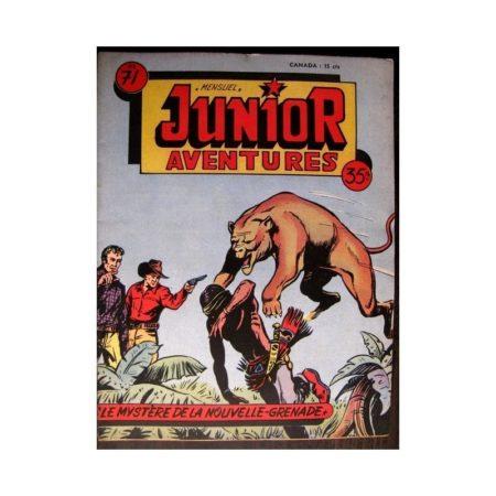 JUNIOR AVENTURES N°71 LE MYSTERE DE LA NOUVELLE GRENADE (Editions des Remparts 1956)