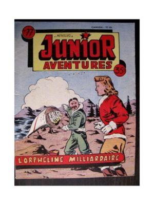 JUNIOR AVENTURES N°77 L'ORPHELINE MILLIARDAIRE (Editions des Remparts 1957)