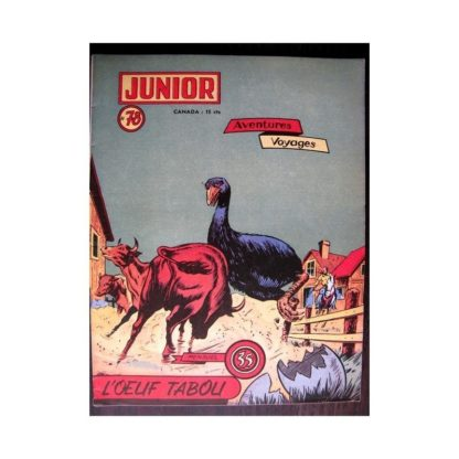 JUNIOR AVENTURES N°78 L'OEUF TABOU (Editions des Remparts 1957)