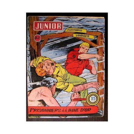 JUNIOR AVENTURES N°82 PRISONNIERS DE LA MINE D'OR (Editions des Remparts 1957)