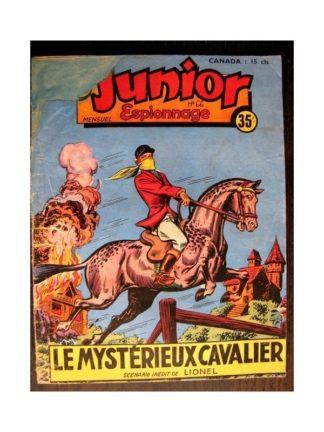 JUNIOR ESPIONNAGE N°66 LE MYSTERIEUX CAVALIER (BRANTONNE) Editions des Remparts