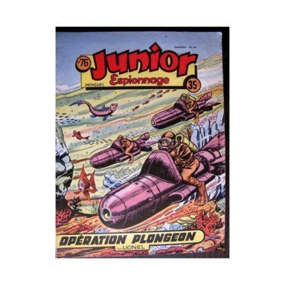 JUNIOR ESPIONNAGE N°76 OPERATION PLONGEON (BRANTONNE) Editions des Remparts