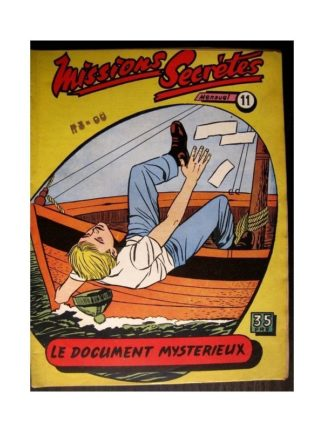 MISSIONS SECRETES N°11 LE DOCUMENT MYSTERIEUX (Editions des Remparts)