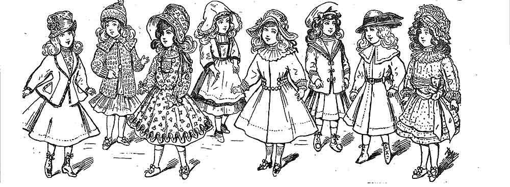 Patrons pour habiller la poupée Bleuette