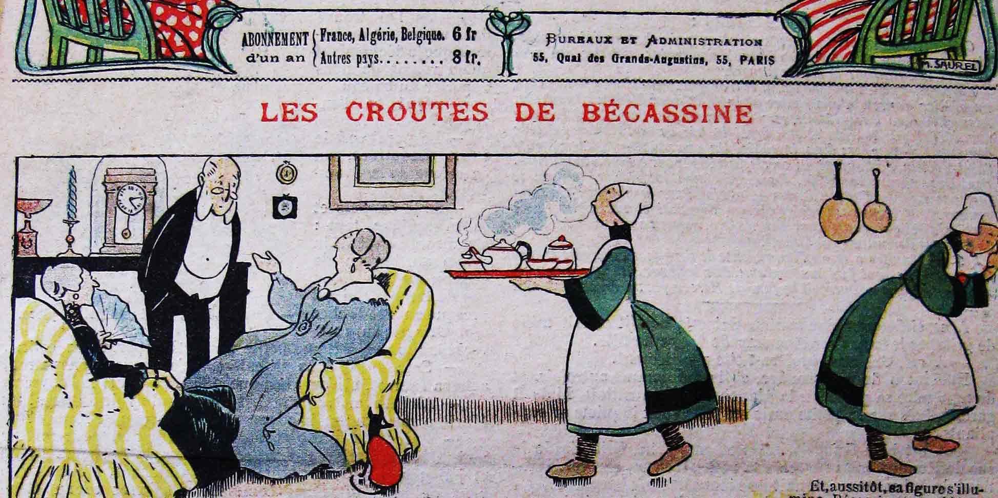 Les aventures de Bécassine publiées dans la Semaine de Suzette