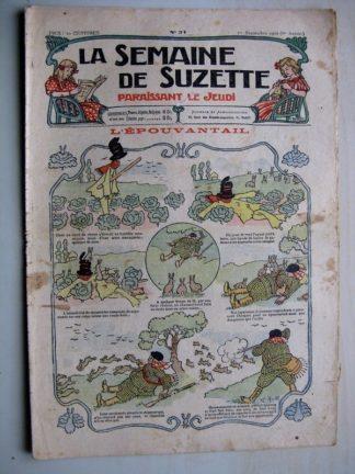 La Semaine de Suzette 6e année n°31 (1910) L'épouvantail (Henri Avelot) Bleuette