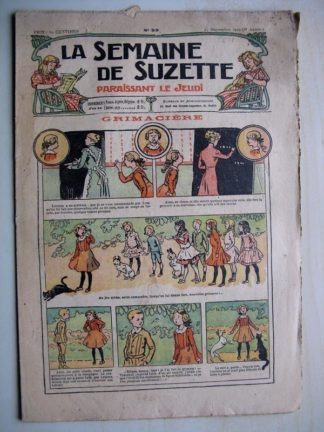 La Semaine de Suzette 6e année n°33 (1910) Grimacière (R. de la Nézière) Bleuette - Blouse Kimono