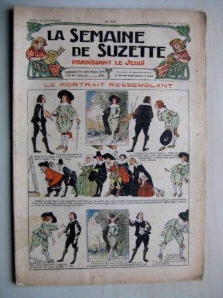 La Semaine de Suzette 6e année n°34 (1910) Le portrait ressemblant (Pinchon) Bleuette cache maillot