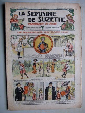 La Semaine de Suzette 6e année n°35 (1910) Le sacrifice de Gaspard (Raymond de la Nézière) Bleuette
