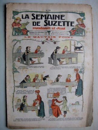 La Semaine de Suzette 6e année n°40 (1910) La mauvais point (Guydo) Bleuette - Manteau