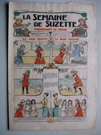 La Semaine de Suzette 6e année n°41 (1910) Main droite et main gauche (R. de la Nézière) Bleuette